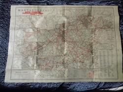Magyarország autótérképe 1946 - Turner István / Budapest 1:500000 arányszám
