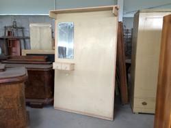 Régi art deco fa előszobafal vintage előszoba bútor fogas