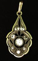 Beautyful Antique 14k Gold Art Nouveau Pendant