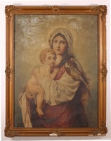 Mária és kis Jézus portré