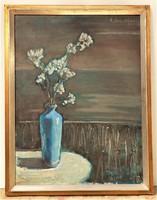 Somorjai Magda G. (1910-1995) Este c. . olajfestménye 90x70cm Eredeti Garanciával !!!