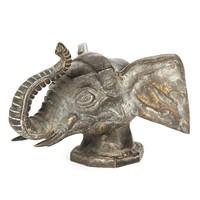 Bronz elefánt fej szobor – 12,5cm