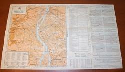Angol nyelvű Budapest térkép 1936-ból