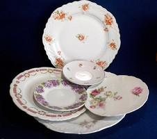 6 darab pazar szecessziós tányér , kínáló összeállítás