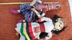 2 darab régi indiai (?) baba, figura eladó fából készült