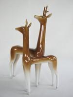 Hollóházi porcelán art deco őz pár