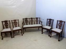 Barokk-chippendale ülőgarnitúra
