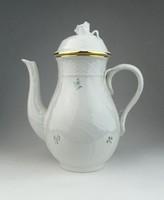 0R337 Régi virágmintás Herendi porcelán teáskanna