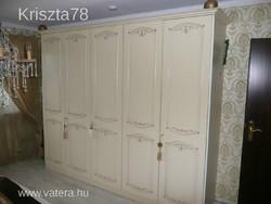 Trüggelman 5 ajtós törtfehér gardrobszekrény 275x220x60cm