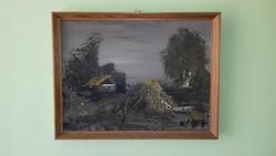Németh Zoltán olaj / farost festmény