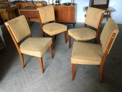 Retro kárpitozott szék régi art deco étkezőszék ebédlő szék