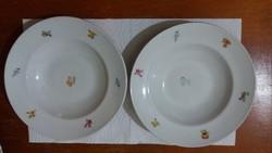 Porcelán mély tányérok ( 2 db)