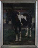 Ismeretlen festő: Ló az istállóban