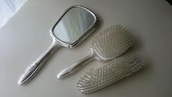 Ezüst tükör és két darab ezüst kefe 835- ös Német fémjelzésű