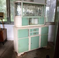 Vintage régi konyhaszekrény vitrines kredenc tálaló konyha szekrény