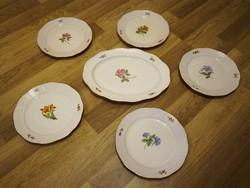 5 személyes Herendi virágmintás vacsorázó készlet
