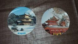 2db. japán KYOTO műanyag falitányér dísztányér