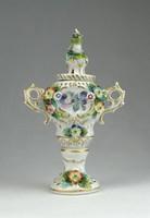 0Q210 Antik cseh Altwien porcelán mini urna 13.5cm