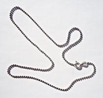 39,9 cm. hosszú olasz gömbökből álló 925-ös jelzett ezüst nyaklánc