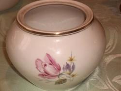 Antik hollóházi rózsás porcelán  10 cm magas