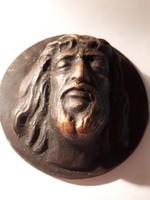 Bronz Jézus fej