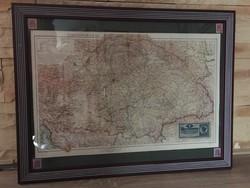 Antik Nagy Magyarország térkép, az 1900as évek elejéről. 1 keretezett, összesen 15db.