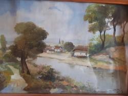 Agárdi Soós Lajos olaj vászon festmény