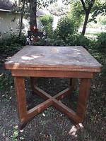 Antik nyitható étkező asztal Sándor József műbutor asztalostól