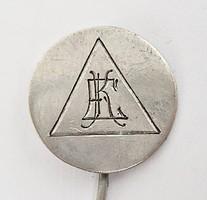 Régi ezüst monogramos kitűző