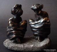 Ikrek   bronz-szobrok