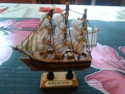 Retro Balatoni emlék hajó makett ... b7b1e81d32