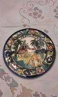 Jerusalem feliratos fali tányér