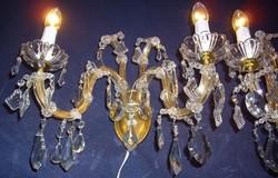 Mária Terézia kristály dupla falikar 2db