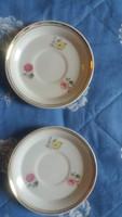 Hollóházi porcelán csészealjak ( 2 db.)