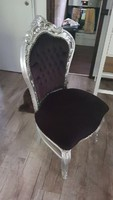 Fekete barok szék