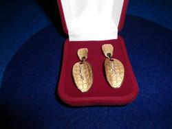 Arany 18k CRESBER  fülbevaló 12.3 gr Brillekkel