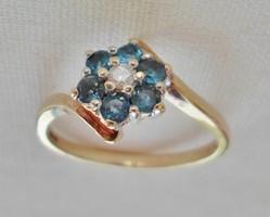 Szépséges antik zafí brill aranygyűrű