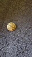 Bronz gomb 2 cm átmérő , címerrel