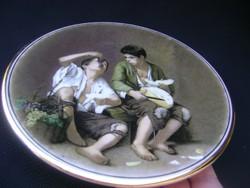 Disztányér  porcelán  Murillo festménnyel díszítve igazi ritkaság.