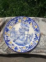 18.sz Nématalföldi falitányér, cirka 240 éves