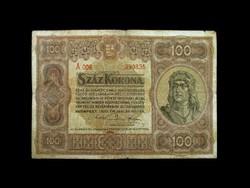 100 BARNA KORONÁS - 1920! - REMEK TARTÁSBAN