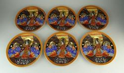 0R032 Antik japán porcelán süteményes tányér 6 db