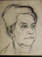 Erediti Scheiber Hugó alkotás, amely a művész édesanyját ábrázolja
