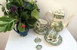 Old Inns Series English Ironstone 1,2 l teáskanna és 3 szett teáscsésze egyben