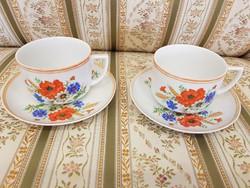 Zsolnay 2.személyes teás készlet ritka pipacsos mintával
