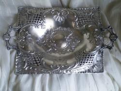 Antik ezüst füles kínáló, asztalközép