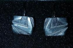 Antik ezüst, férfi mandzsetta gomb pár