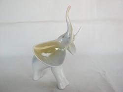 Hollóházi porcelán art deco elefánt