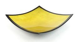 0R585 Szögletes arany színű kínáló dísztál