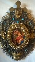 29.5 cm high baroque heirloom porcelain picture